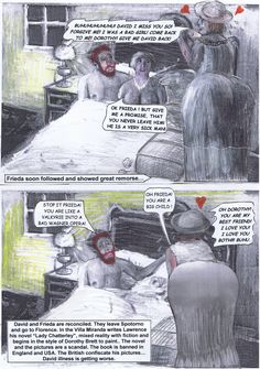 D.H. Lawrence flüchtet 1926 nach einem Streit mit Frieda in die Arme seiner alten Freundin und seelenverwandten Dorothy Brett. Lawrence einziger Seitensprung. Allerdings ohne Sex denn der Autor war zu diesem Zeitpunkt bereits unheilbar impotent. Frieda gelobte Besserung und blieb bis zu seinem Tode 1930 bei ihm.