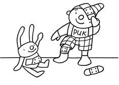 Hatsjoe! - knutselideeën - UK&Puk. Tekening puk Social Skills, Diy Crafts, Teaching, School, Projects, Prints, Kids, Fictional Characters, Google