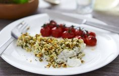 Herb-crusted Baked Cod - super easy!