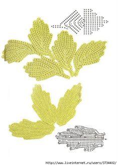 Leaves - Irish Crochet