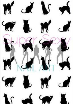 Different shapes of cats for your tattoo!!