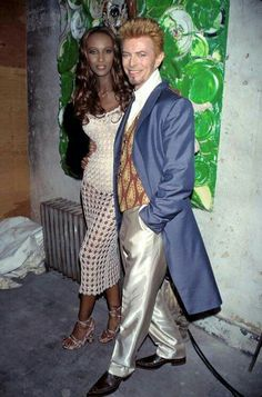 David Bowie and his wife Iman 90s.