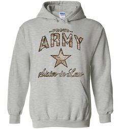 Proud Army Sister-in-Law Camo Hoodie