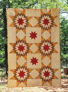 **Civil War Era Mustard Yellow & Red Feathered Star with Hearts Quilt ** | eBay, hardtimestradingpost