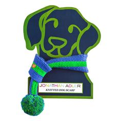Jonathan Adler Dog Pom Pom Scarf. Miles is definitely getting one! (how cute is the packaging?)