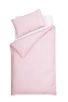 Pale Pink Kids Easy Care Plain Dye Bed Set