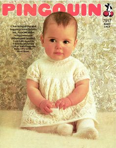 Pingouin 7917 baby matinee dress and tights vintage by Ellisadine 100 2020 girl knitted dress girl knitted dress patterns knitted dress knitted dress inspiration knitted. Girls Knitted Dress, Knit Baby Dress, Knitted Baby, Smock Dress, Baby Knits, Smocked Baby Dresses, Baby Girl Dresses, Baby Girls, Dress Girl