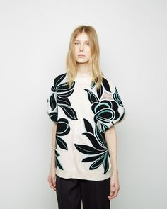 3.1 Phillip Lim floral embroidered short sleeve pullover