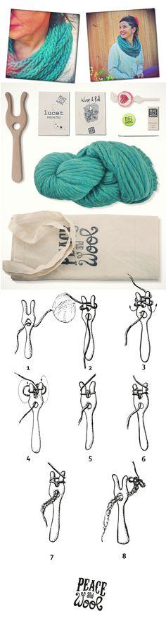 Wrap & Roll, so easy snood