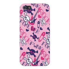 Fun Girly Pink Purple Punk Rock iPhone 5 Case