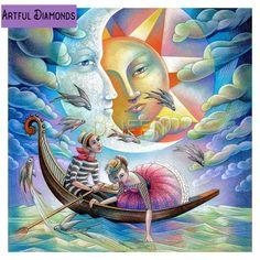 Diamond art is beautiful and we've got the best diamond painting kits around! Check out our what is diamond painting guide for diamond painting tips Moon Lovers, Lovers Art, Fantasy Kunst, Fantasy Art, Art Fantaisiste, Twin Flame Love, Twin Flames, My Sun And Stars, 3d Drawings