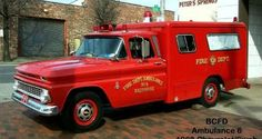 Baltimore Fire Dept Ambulance 6 1966 Chevrolet/Swab