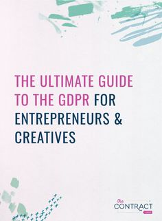 What is the new EU GDPR? I've been researching and I'm sharing the ultimate guide to the GDPR General Data Protection Regulation for entrepreneurs (affiliate link). Influencer Marketing, Inbound Marketing, Business Marketing, Email Marketing, Content Marketing, Creative Business, Business Tips, Online Business, Etsy Business