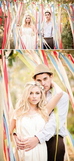 beautiful DIY boho inspiration for weddings or engagements
