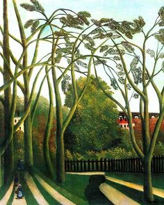 The Banks of the Bièvre near Bicêtre - Henri Rousseau (le Douanier). The Metropolitan Museum of Art, New York. Gift of Marshall Field, 1939 Henri Rousseau, Art Moderne, Naive Art, Oeuvre D'art, Art History, Painting & Drawing, Landscape Paintings, French Artists, Modern Art