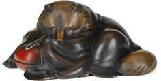 A bronze okimono of a raccoon dog (tanuki) By Masayuki, Meiji period (early century) Japanese Raccoon Dog, Folk Religion, Japanese Folklore, Japan Art, Bronze Sculpture, Mythical Creatures, Spirit Animal, Sculptures, Coups