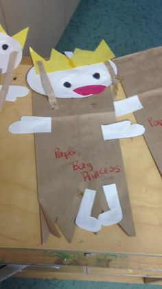 Read the book for the whole camp and then make these -- Paper bag princess craft  stonewall children's center