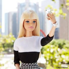 It's perfect lighting for a selfie!  #barbie #barbiestyle