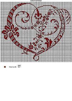 (1) Gallery.ru / Foto # 132 - Corazones - Irisha-ira Cross Stitch Heart, Cross Stitch Alphabet, Cross Stitch Samplers, Cross Stitch Flowers, Cross Stitching, Cross Stitch Embroidery, Embroidery Patterns, Cross Stitch Designs, Cross Stitch Patterns