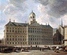 Schilderij van Berckheyde: Het stadhuis op de Dam te Amsterdam (1673)