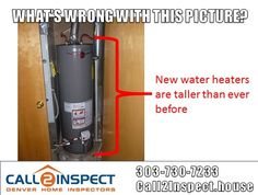 New water heaters are taller than ever before. Amateur installers don't shorten flue pipes. Hazardous backventing occurs