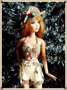 #Short #Top #Barbie #Muñeca #Doll Chapéu #RaquelGaucha #Verão #Summer