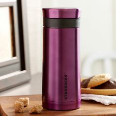 Stainless Steel Travel Press - Purple, 10 fl oz Overstreet & Treadaway If you liked coffee, you would need this Starbucks Tumbler, Coffee Cups, Brewing, Tea Pots, Stainless Steel, Mugs, Eat, Pink Things, Deep Purple