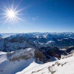 Säntis in den Schweizer Bergen. #mountains #nature #landscape #travel #sky #beautiful #hiking #view #mountain #instagood #photooftheday #snow  #sun  #naturelovers #amazing #wanderlust  #outdoors #picoftheday #explore #forest #winter #fb