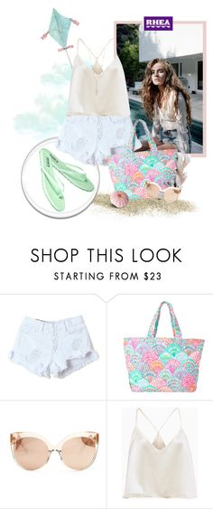 """""""Rhea Footwear"""" by sierraday ❤ liked on Polyvore featuring Lilly Pulitzer, Linda Farrow and House of Harlow 1960"""