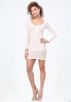 bebe Victoria Lace Dress