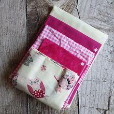 Zbytkový balíček látek růžový se sovičkami Pot Holders, Scrappy Quilts, Hot Pads, Potholders