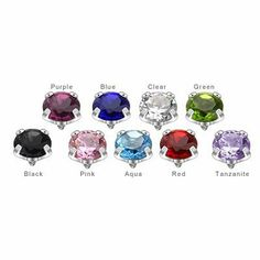 9 Colored Jeweled Dermal Top - 5mm Body Jewelry. $15.99. Cz Gem. 316L Surgical Steel