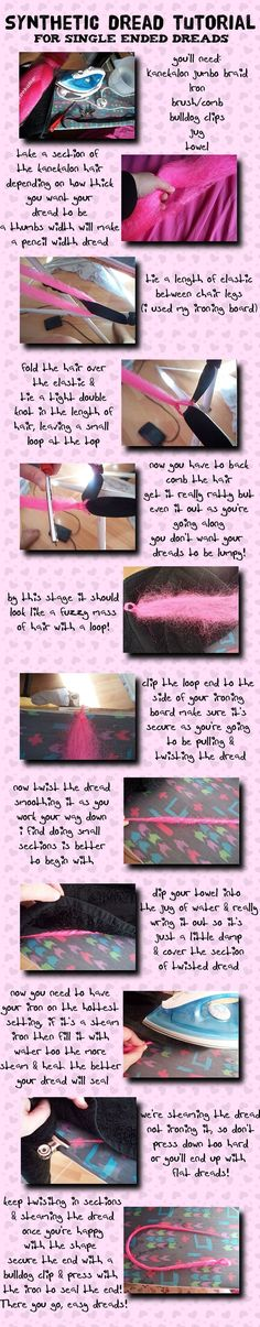 Synthetic Dreads Tutorial by ~dolly-dementia on deviantART