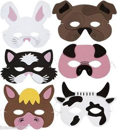 Kids Foam Farm Animal Mask....oriental trading or make own with supplies from craft store