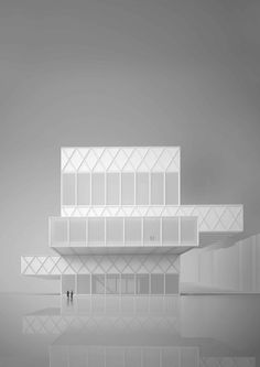 a f a s i a: e2a Eckert Eckert maquette volumeschakeling gevel vorm museum kantoren textuur uitkraging luifel toren structuur constructie POLK stapeling