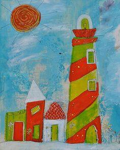 Whimsyville Light 2 Print By Ann Krier