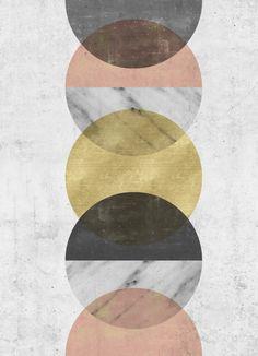 Moonlight Art Print #scandinavian #art #wallart #print 3poster #affichescandinave #walldecor #home #decor #circleart #halfcircle #geometric #minimalist #pastel #marble