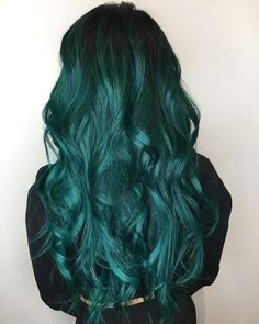 Likes, 14 Comments – Las Vegas, NV Hair Colorist (kate eissinger) on In… – Beauty Hair Dye Colors, Cool Hair Color, Dye My Hair, New Hair, Dark Teal Hair, Black Hair, Green Wig, Blue Green Hair, Blue Wig