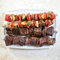 450-SFS_GrilledBeefKebabs_NorthAfricanMarinade_031 Beef Skewers, Kebabs, Salmon Nicoise Salad, Egg Roll Ingredients, Vegetable Skewers, Grilled Beef, Americas Test Kitchen, Sirloin Steaks, How To Cook Steak