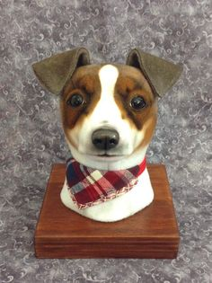 Jack Russell Terrier faux taxidermy headstudy by LisaPay on Etsy