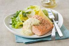 salmon and salad always yummy