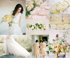 Pale Yellow Peach Wedding Colors