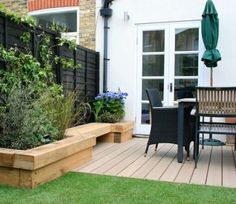 Raised borders with decking