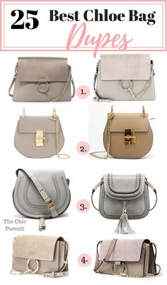 The 25 Best Chloe Bag Dupes & Lookalikes - These affordable handbags are the best on the market! We've found dupes for Chloe Drew, Chloe Faye, Chloe Nile, Chloe Marcie, Chloe Pixie and more! Chloe Handbags, Burberry Handbags, Hobo Handbags, Fashion Handbags, Purses And Handbags, Fashion Bags, Leather Handbags, Spring Handbags, Prada Handbags
