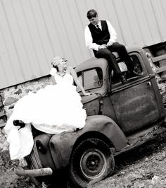 love this picture with an old truck- except I'd use my dads red ford or my grandpas. :)
