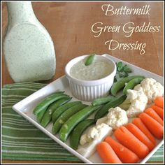 Gourmet Cooking For Two: Buttermilk Green Goddess Dressing