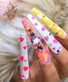 Valentine Nail Art, Long Acrylic Nails, Pretty Nails, Skin Care, Nail Artist, Acrylics, Gel Polish, Beauty, Marble