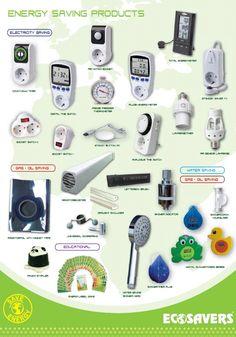 Eco products for saving energy and money / Eko akcesoria do oszczędzania energii i kosztów Marketing Ideas