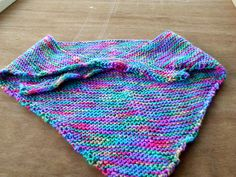 garter stitch kercheif $5 + postage