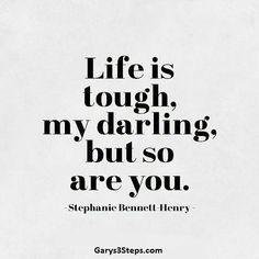 You're much tougher